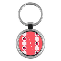 Cake Top Rose Key Chain (Round)