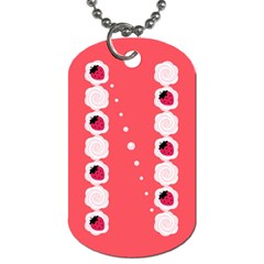 Cake Top Rose Dog Tag (One Side)
