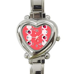 Cake Top Rose Heart Italian Charm Watch