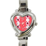 Cake Top Rose Heart Italian Charm Watch Front