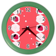 Cake Top Rose Color Wall Clock