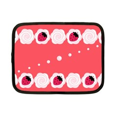 Cake Top Rose Netbook Case (Small)