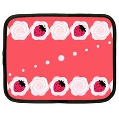 Cake Top Rose Netbook Case (Large)