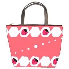 Cake Top Rose Bucket Bag