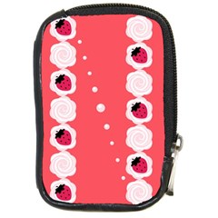 Cake Top Rose Compact Camera Leather Case