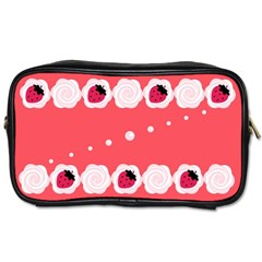 Cake Top Rose Toiletries Bag (two Sides)