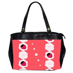 Cake Top Rose Oversize Office Handbag (Two Sides)