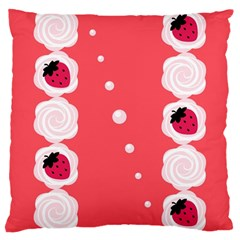 Cake Top Rose Large Cushion Case (two Sides)
