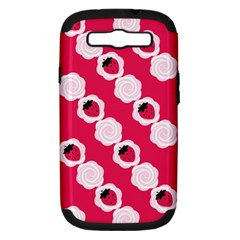 Cake Top Pink Samsung Galaxy S III Hardshell Case (PC+Silicone)