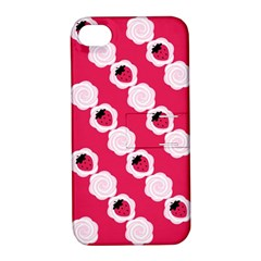 Cake Top Pink Apple iPhone 4/4S Hardshell Case with Stand