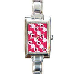 Cake Top Pink Rectangular Italian Charm Watch