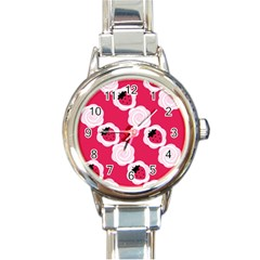 Cake Top Pink Round Italian Charm Watch