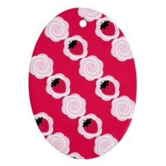Cake Top Pink Ornament (oval)
