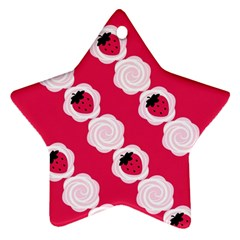 Cake Top Pink Ornament (Star)
