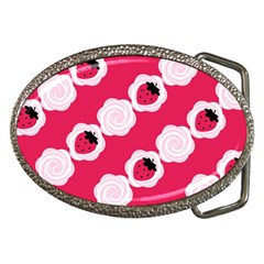 Cake Top Pink Belt Buckle