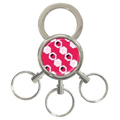 Cake Top Pink 3-Ring Key Chain