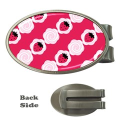 Cake Top Pink Money Clip (oval)