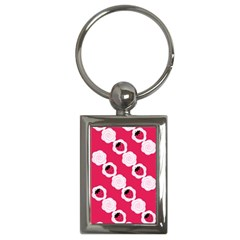 Cake Top Pink Key Chain (Rectangle)