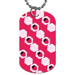 Cake Top Pink Dog Tag (One Side)