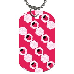Cake Top Pink Dog Tag (Two Sides)