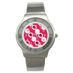 Cake Top Pink Stainless Steel Watch