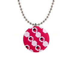 Cake Top Pink 1  Button Necklace