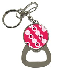 Cake Top Pink Bottle Opener Key Chain