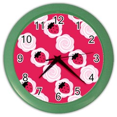 Cake Top Pink Color Wall Clock