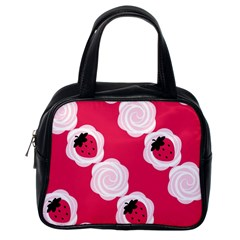 Cake Top Pink Classic Handbag (One Side)