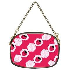 Cake Top Pink Chain Purse (One Side)