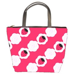 Cake Top Pink Bucket Bag