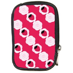 Cake Top Pink Compact Camera Leather Case
