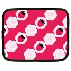 Cake Top Pink Netbook Case (XL)