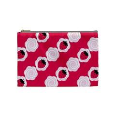 Cake Top Pink Cosmetic Bag (Medium)
