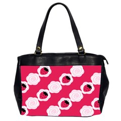 Cake Top Pink Oversize Office Handbag (Two Sides)