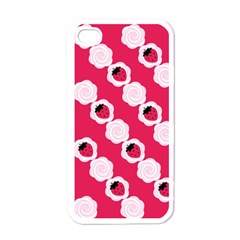 Cake Top Pink Apple Iphone 4 Case (white)