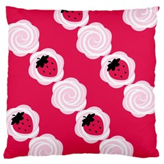 Cake Top Pink Large Cushion Case (Two Sides)