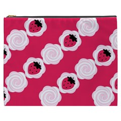 Cake Top Pink Cosmetic Bag (XXXL)