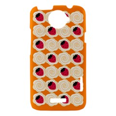 Cake Top Orange HTC One X Hardshell Case