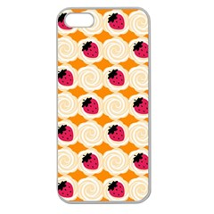 Cake Top Orange Apple Seamless Iphone 5 Case (clear)