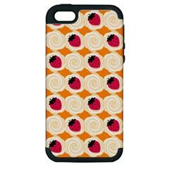Cake Top Orange Apple Iphone 5 Hardshell Case (pc+silicone)