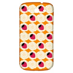 Cake Top Orange Samsung Galaxy S3 S Iii Classic Hardshell Back Case