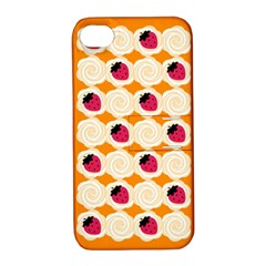Cake Top Orange Apple iPhone 4/4S Hardshell Case with Stand