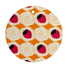 Cake Top Orange Ornament (Round)
