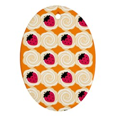 Cake Top Orange Ornament (Oval)