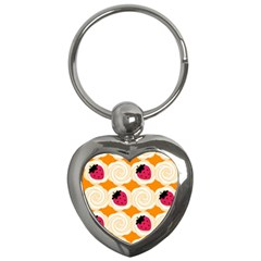 Cake Top Orange Key Chain (Heart)