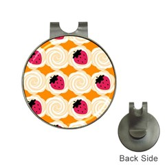 Cake Top Orange Golf Ball Marker Hat Clip