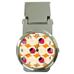 Cake Top Orange Money Clip Watch