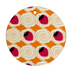 Cake Top Orange Round Ornament (Two Sides)