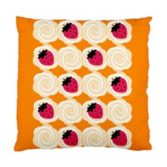 Cake Top Orange Cushion Case (Two Sides)